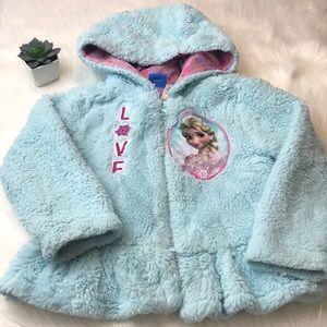 Disney Frozen Princess Elsa Girls Hoodie Jacket